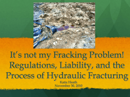 It's not my Fracking Problem! Liability Regimes