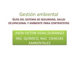 Gestión ambiental Normatividad ambiental