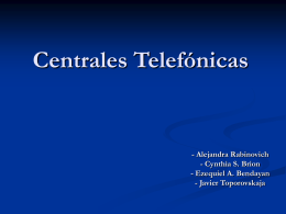 Centrales Telefónicas - ORT Argentina