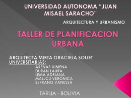 TALLER DE PLANIFICACION URBANA
