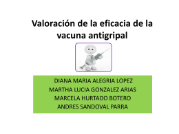 Valoración de la eficacia de la vacuna antigripal
