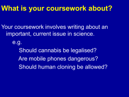 What is your coursework about?