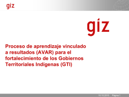 PowerPoint-Präsentation, GTZ