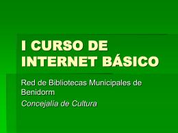 I CURSO DE INTERNET BÁSICO