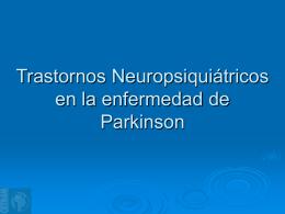 Trastornos neuropsiquiátricos en la enfermedad de