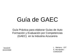 Guía de GAEC