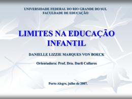LIMITES NA EDUCAÇÃO INFANTIL DANIELLE LIZZIE