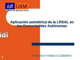 La LRSAL en Cataluña