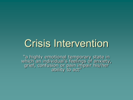Crisis Intervention - Mercer County Community
