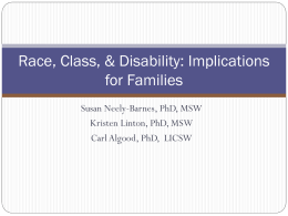 Race, Class, & Disability: Implications for