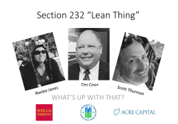 "Section 232 ""Lean Thing"""