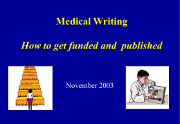 Medical Writing Ideas to Publication