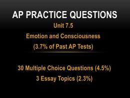 AP Practice Questions