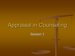 Appraisal in Counseling