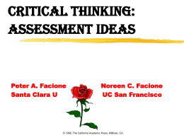 Assessing College Students' Critical Thinking
