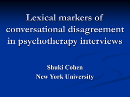 Lexical markers of conversational disagreement in
