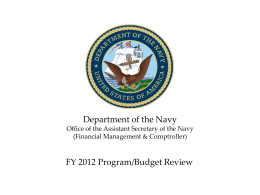 FY 2012/2013 Program Budget Review