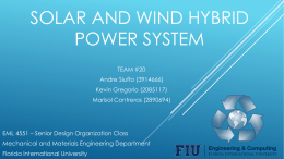Wind and solar hybrid power