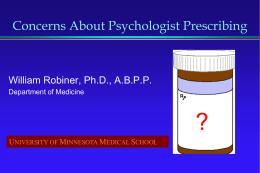 Why Psychologists Should Not Pursue Prescription