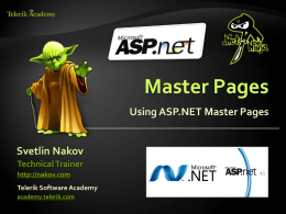 Master Pages in ASP.NET
