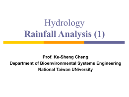 Hydrology Rainfall Analysis (1) - RSLAB-NTU