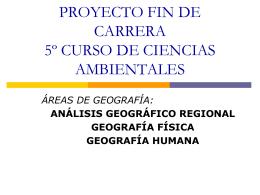 PROYECTO FIN DE CARRERA 5º CURSO DE CIENCIAS
