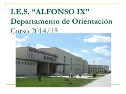 """I.E.S. """"ALFONSO IX"""" 2º Bachillerato Curso 2013/14"""