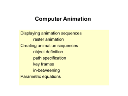 Computer Animation - University of Birmingham