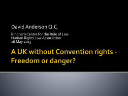 A UK without Convention rights