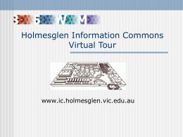 Holmesglen Information Commons Virtual Tour