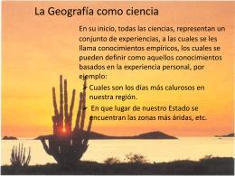 La Geografía como Ciencia