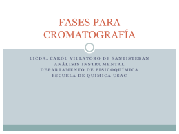 FASES PARA CROMATOGRAFÍA