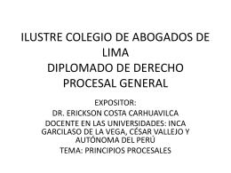 ILUSTRE COLEGIO DE ABOGADOS DE LIMA DIPLOMADO DE