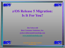 zOS Release 5 Migration