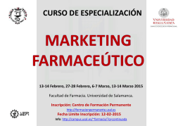 MARKETING FARMACEÚTICO