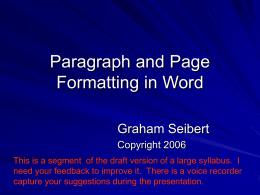 Using a word processor for writing essays