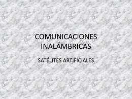 COMUNICACIONES INALÁMBRICAS