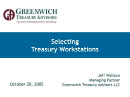 Selecting Treasury Workstations