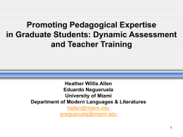 Promoting Pedagogical Expertise in Graduate