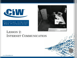 Lesson 2: Internet Communication