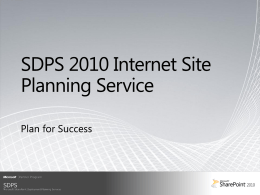 SharePoint 2010 - Internet site service (customer)