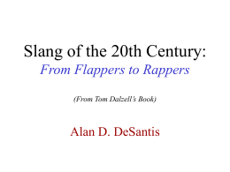 Slang of the 20th Century: From Flappers to