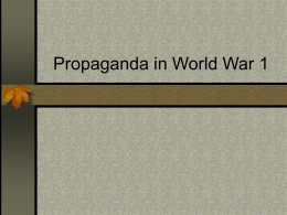 Propaganda in World War 1
