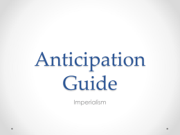 Anticipation Guide - Perry High School