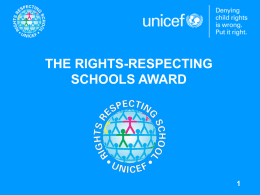 The Right Respecting Schools Award