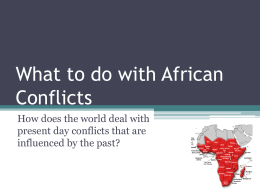 African Conflicts - Meridian School District