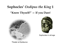 Oedipus the King part II