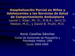 Hospitalización Parcial en Niños y Adolescentes y
