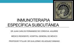 Inmunoterapia Específica Subcutánea