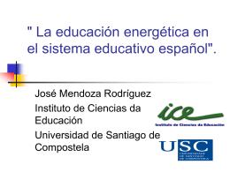 ` Las energías renovables en el sistema educativo